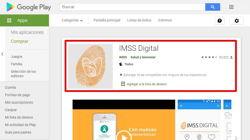 Cómo descargar IMSS Digital en Android