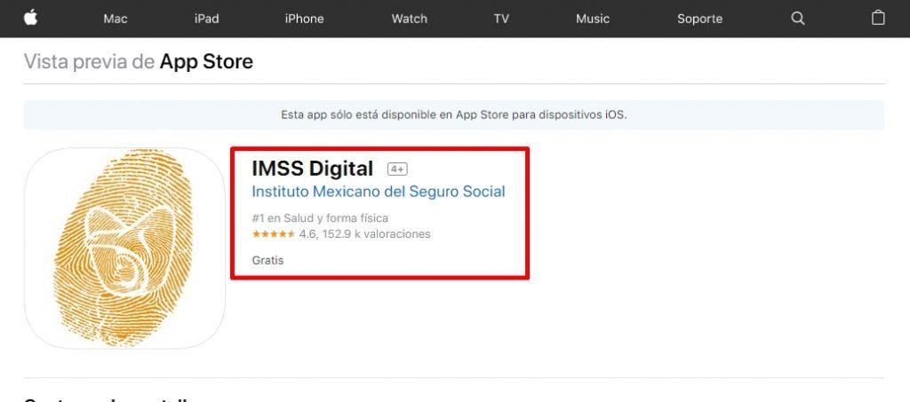 Cómo descargar IMSS Digital en iOS