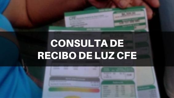 Consultar recibos del CFE