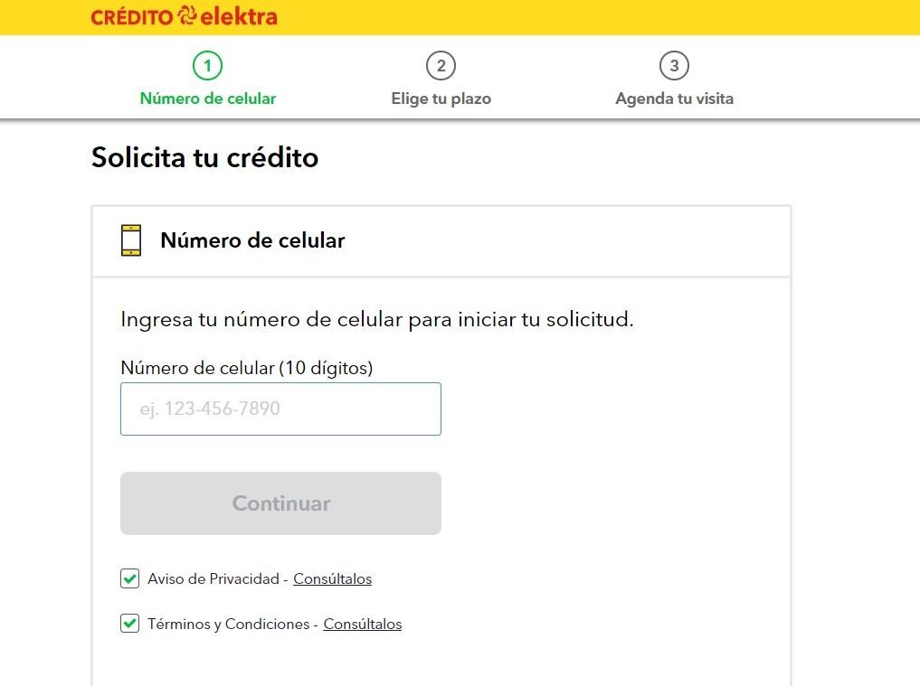 datos para solicitar el crédito
