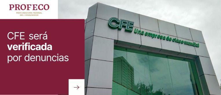 Denuncias a CFE profeco